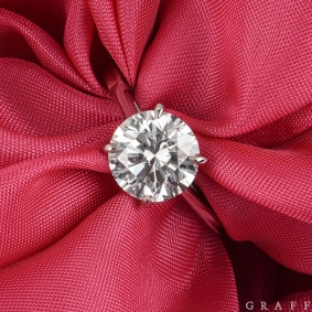 Graff Platinum Round Brilliant Cut Diamond Ring 2.02ct G/VS1